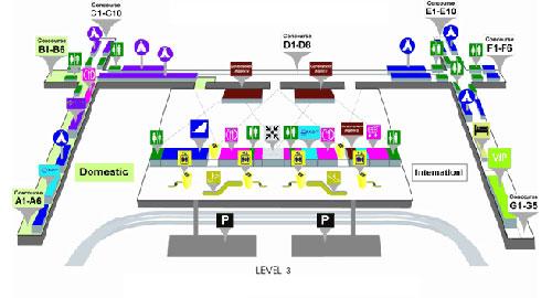 3 этаж аэропорта Суварнабуми