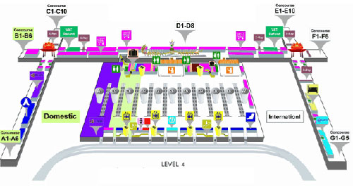4 этаж аэропорта Суварнабуми